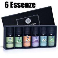 Olio Essenziale per Diffusori Set Oli Aromi per Aromaterapia, 6 profumi 60 ml