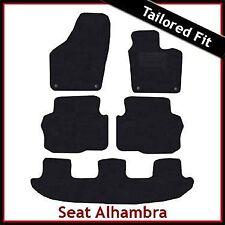 SEAT Alhambra Mk2 2010 en adelante Totalmente a Medida Alfombra Alfombrillas De Coche Negro Equipada