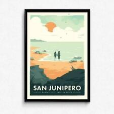 San Junipero Concept Post Tooting Market, Wandsworth, Wall Art South London Gift