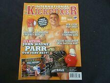 INTERNATIONAL KICKBOXER RARE AUSTRALIAN MAGAZINE! VOL 13 NO 6. JOHN WAYNE PARR