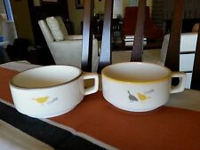 2 RARE MISTER DONUT COFFEE CUPS BIRDS CHIRP PROMOTIONAL NOT FOR SALE