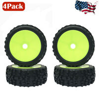 4Pcs 1:8 Rubber Tires Tyre 17mm Hubs Wheel Rims for RC Car Truck Buggy Tire