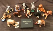 Vintage 1987 The Franklin Mint, The World Of Puppies Figurines, Complete Set