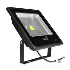 50W, 12 VDC, Outdoor LED Flood Light, Slim, Adjustable, Replaces 150W HPS Bulb,