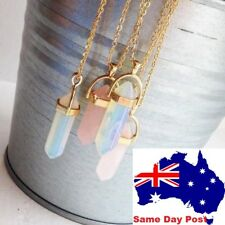 Gold or Silver Plated Healing Crystal 16'' chain Necklace Chain Natural crystals
