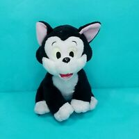 "Disney Pinocchio Figaro the Cat 6"" Plush Stuffed Animal Toy Black White"