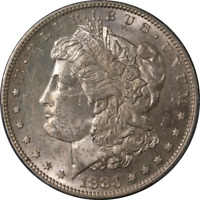 1883-S Morgan Silver Dollar PCGS MS62 Nice Eye Appeal Nice Luster Nice Strike