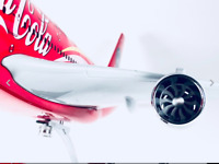 Coca Cola  A380 RARE LARGE PLANE MODEL AIRBUS  AIRPLANE APX 45cm SOLID RESIN