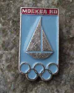 1980 Moscow Summer Olympic Games Yachting Yacht Sailing Event Badge
