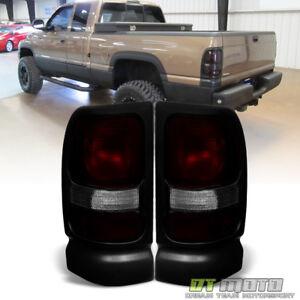 1994-2001 Dodge Ram 1500 2500 3500 Red Smoke Tail Lights Brake Lamps Aftermarket
