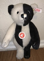 Steiff Teddy Bear Peirrot Mohair 2006 Jointed EXTREMELY RARE Black White