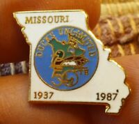 Missouri Ducks Unlimited 1937 1987 50th Anniversary lapel pin pre-owned