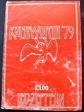 Led Zeppelin Program Knebworth 1979