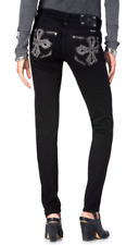 MISS ME JP8157S SZ 28 JAZZY FEATHERETTE CROSS SKINNY JEANS **NEW WITH TAGS**