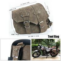 Motorcycle Universal PU Leather Scooter Left Side Saddle Tool Bag Package Part