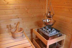Sauna Zeremonie Deluxe Verdampferschale Verdampfertopf Edelstahl Aufguss Midi