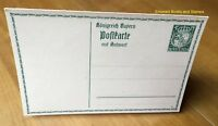 EBS Bavaria Bayern 1914 Reply Paid Card 5/5 Antwortkarte Michel P95/03 mint