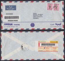 1999 UAE R-Cover Al WAHDAH to Germany, Vögel Birds Falke Falcon [cm424]