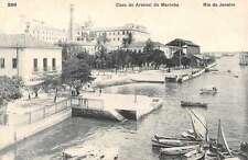 Caes do Arsenal de Mrinha Rio de Marinha Brazil Antique Postcard L2416