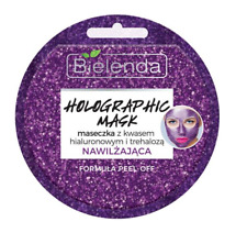 BIELENDA HOLOGRAPHIC FACE MASK MOISTURIZING HYALURONIC ACID & TREHALOZE PEEL-OFF