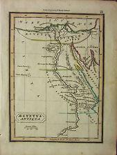 1832 SMALL ANCIENT MAP ~ AEGYPTUS ANTIQUA LIBYA DELTA NILE GOSHEN MEMPHIS