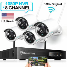 8CH HD 1080p Audio Security IP Camera System Wireless 2MP WIFI NVR Kit Outdoor
