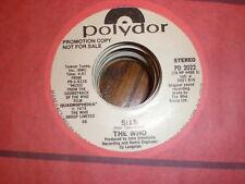 The Who 45 5:15 POLYDOR PROMO