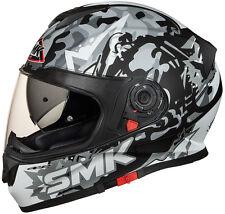 SMK Helmets - Twister - Attack MattGrey - Full Face Dual Visor Motorcycle Helmet