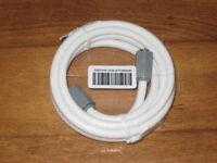 NIP WHITE TV CABLE WIRE