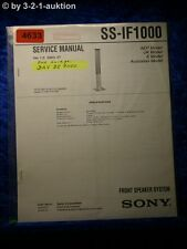 Sony Service Manual SS IF1000 Front Speaker System (#4633)