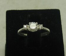 STERLING SILVER ENGAGEMENT RING SOLID 925 NEW SIZE G - Z
