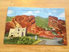 Pueblo of Red Rock Park near Denver CO / Morrison CO vintage postcard