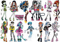 MONSTER HIGH TRANSFERT TEXTILE TSHIRT ROBECCA STEAM ROCHELLE GOYLE TORALEI