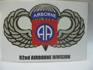 82nd AIRBORNE PARATROOPER DECAL STICKER ARMY MILITARY