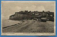 CPA: Criel-sur-mer - Vue d'ensemble de la Falaise et de la Plage, côté de...