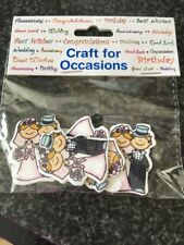 CRAFT FOR  OCCASIONS BRIDE/GROOM CARD TOPPERS GREAT FOR GIFT TAGS