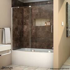 "DREAMLINE MIRAGE-X 56""-60"" x 58"" SLIDING SHOWER TUB DOOR, 3/8 CLEAR GLASS/CHROME"