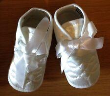 Baptême Chaussures Pour Bébé Garçon En Blanc Âge 3-6 mois BNWB
