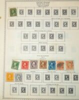 CatalinaStamps: US Stamp Lot, 375 Stamps on Minkus Pages, Lot E