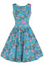 Lady V London Flamingo Tropicana Swing Retro Vintage Style Swing Size 12 Dress