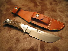 Original Dated 1979 Rudy Signed R H Ruana Deluxe 20A M Stamp Knife and Sheath