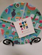 New listing Novogratz Outdoor Set of 8 Sushi pattern 100% Melamine Plates New!