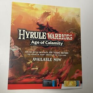 """Nintendo Switch Hyrule Warriors Calamity Limited Edition Promo Poster 24"""" x24"""""""