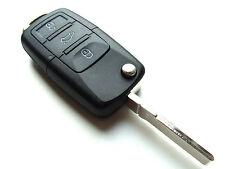 VW Beetle Bora Jetta Touareg 3 Button Flip Remote Key Fob Case (Blank HAA Blade)