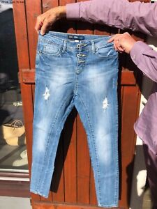 By Alina Jeans femmes Jean skinny jeans pantalon boyfriendjeans hüftjeans bleu 36 s