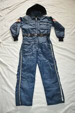 Vintage MENS SAFTBAK M INSULATED BLUE SNOW SKI SUIT HUNT HOODED COVERALLS  USA