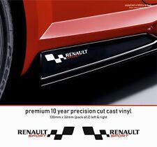 Renault Sport  (M) Premium 10 Year Cast Vinyl Decals Stickers  x 2