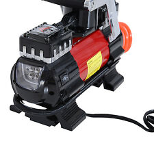 100PSI Mini Air Compressor 12V Auto Car Electric Tire Inflator Pump w/LED Light