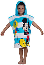 DISNEY MICKEY MOUSE BOO PONCHO KIDS CHARACTER HOODED BATH COTTON BEACH TOWEL