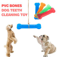 Dog Chew Toy for Aggressive Treat Dispensing Tooth Cleaning Bone Rubber Soft Toy